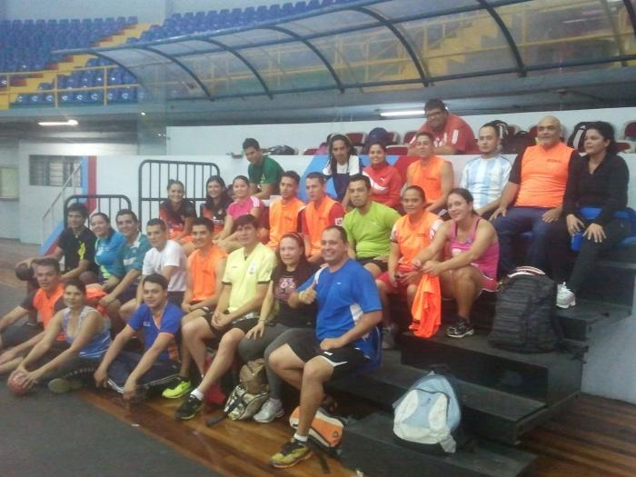 FECOBAL - participantes del nivel 1 del curso de balonmano