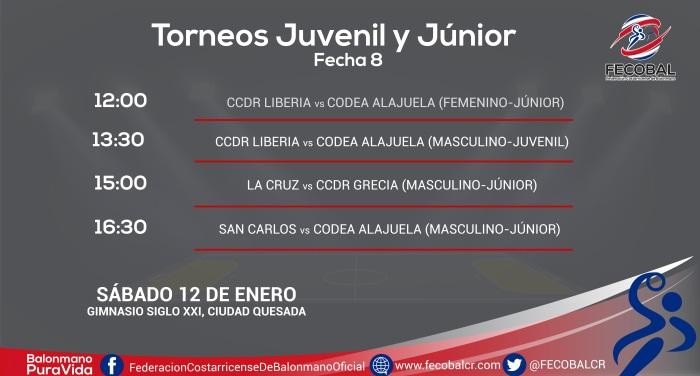 calendario jornada juvenil y jÚnior san carlos