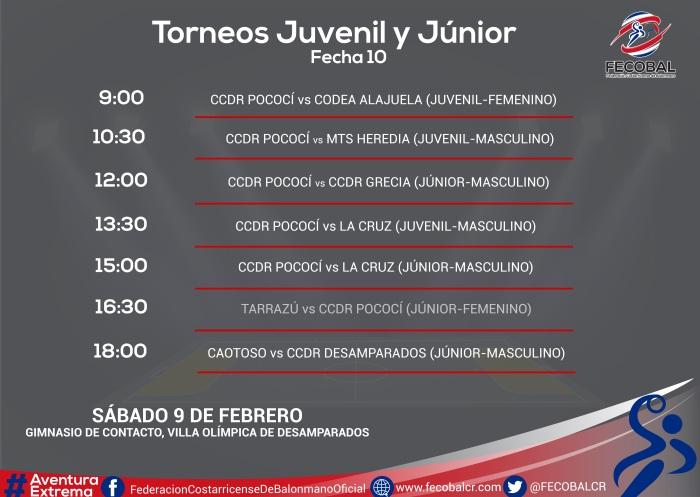 CALENDARIO JORNADA JUVENIL Y JÚNIOR Desampa 1