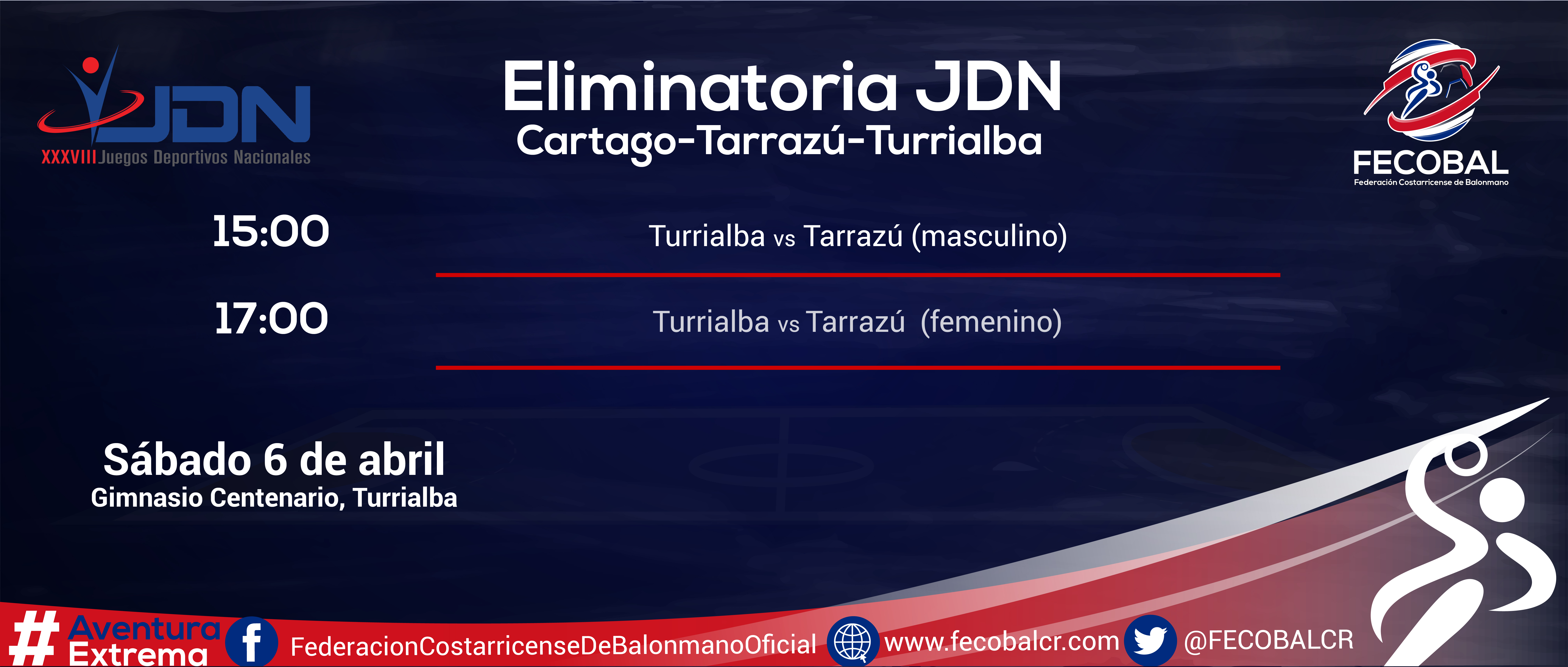 CALENDARIO ELIMINATORIA Turrialba-01